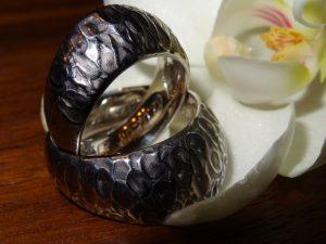 StephanieHenzler Trauringe 925er Silber schwarz rhondiniert