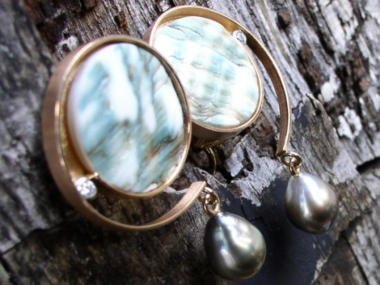 Ohrring Rosegold von Stephanie Henzler - Goldschmiede-Atelier