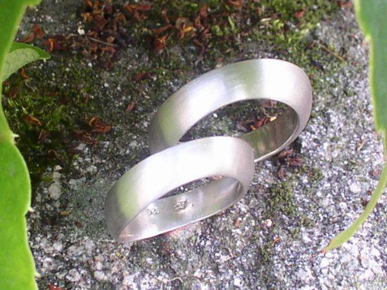 Ehering aus Silber
