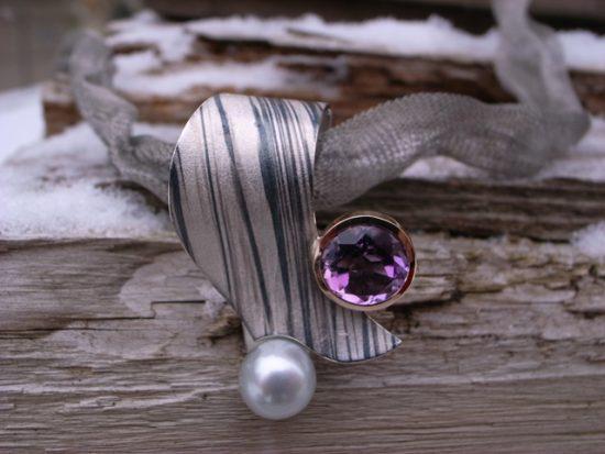Collier Ring Palladium von Stephanie Henzler - Goldschmiede-Atelier