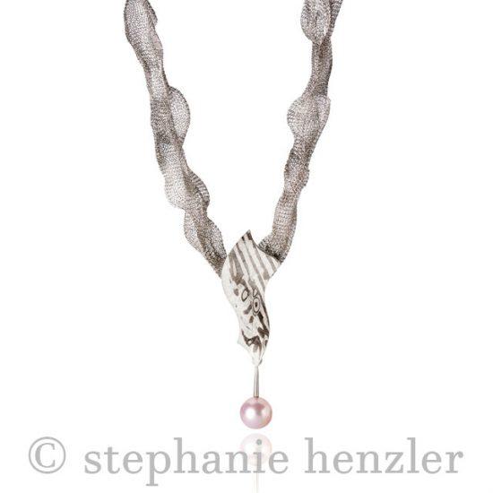 Collier pearl1243-1 von Stephanie Henzler - Goldschmiede-Atelier
