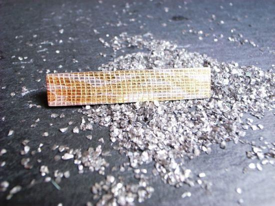 Krawattennadel RIFFLE 925 Silber mit Feingold von Stephanie Henzler - Goldschmiede-Atelier