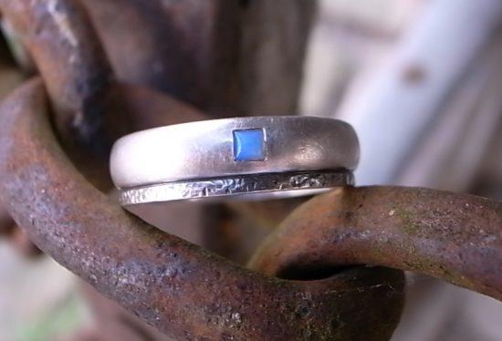 Männerschmuck Ring Silber Opal von Stephanie Henzler - Goldschmiede-Atelier