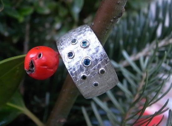 Ring Silbertec Brillanten von Stephanie Henzler - Goldschmiede-Atelier