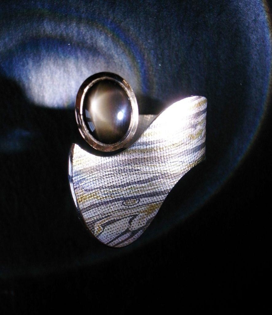 Ring Tricolor Goldenstar von Stephanie Henzler - Goldschmiede-Atelier in Nürtingen