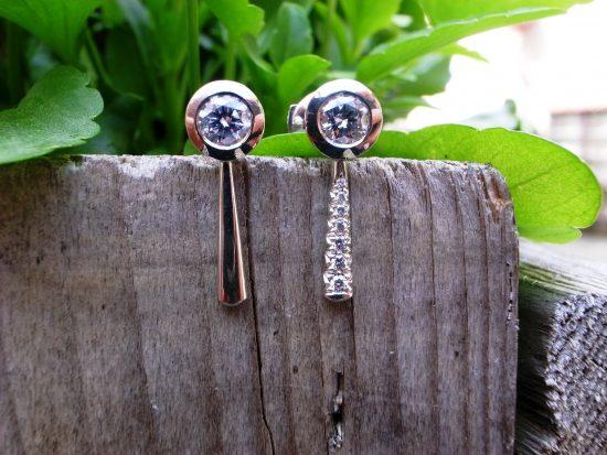 Kundenwunsch-Ohrstecker 750 Weissgold mit Diamanten von Stephanie Henzler - Goldschmiede-Atelier