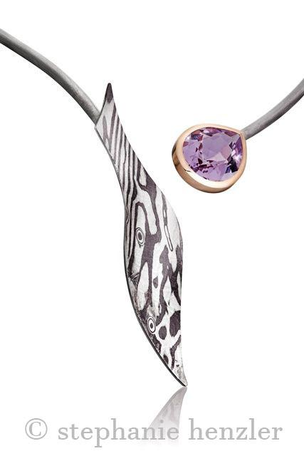 Collier Lavendelquarz von Stephanie Henzler - Goldschmiede-Atelier